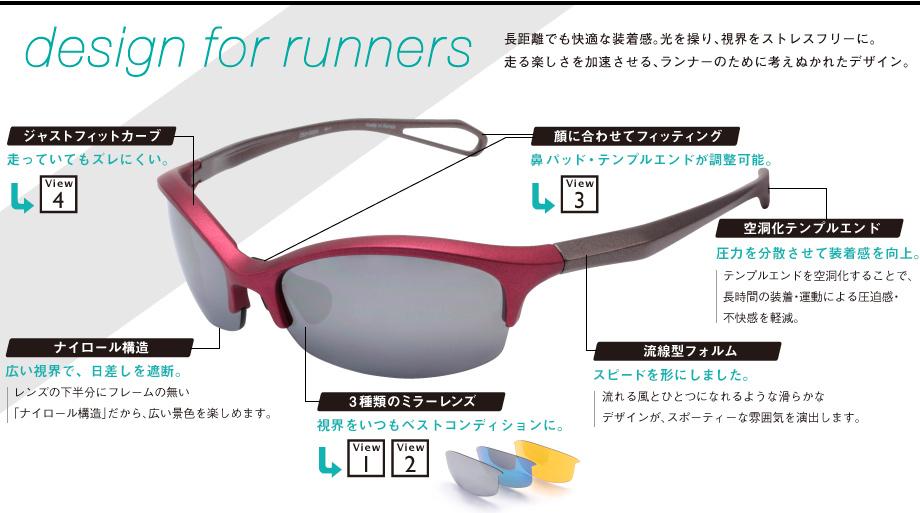 Zoff Running with Q は三種類のレンズがついてくる!|PCメガネドットコム
